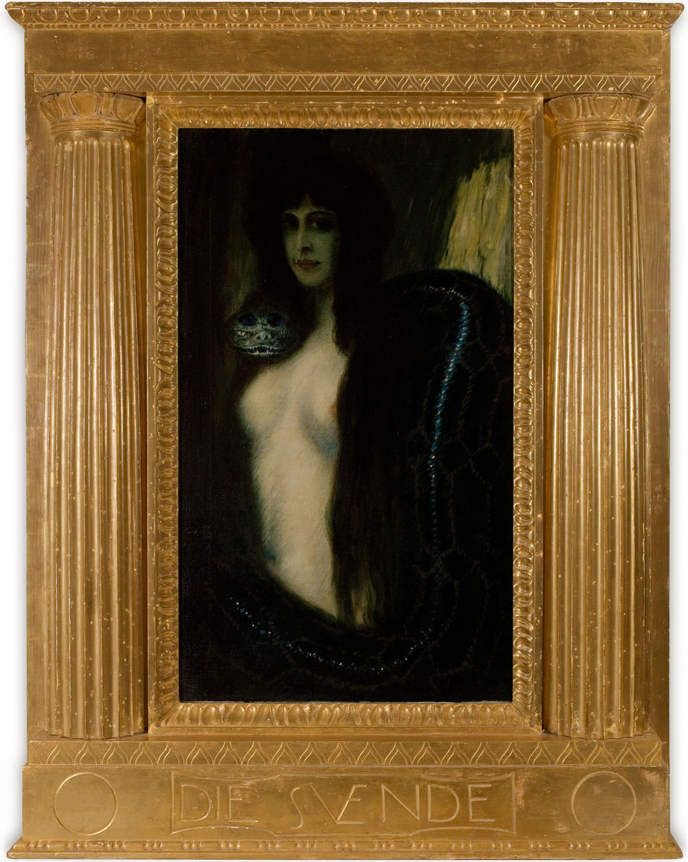 Franz von Stuck, The Sin, 1893. Collection F.W. Neess. Photo: Markus Bollen
