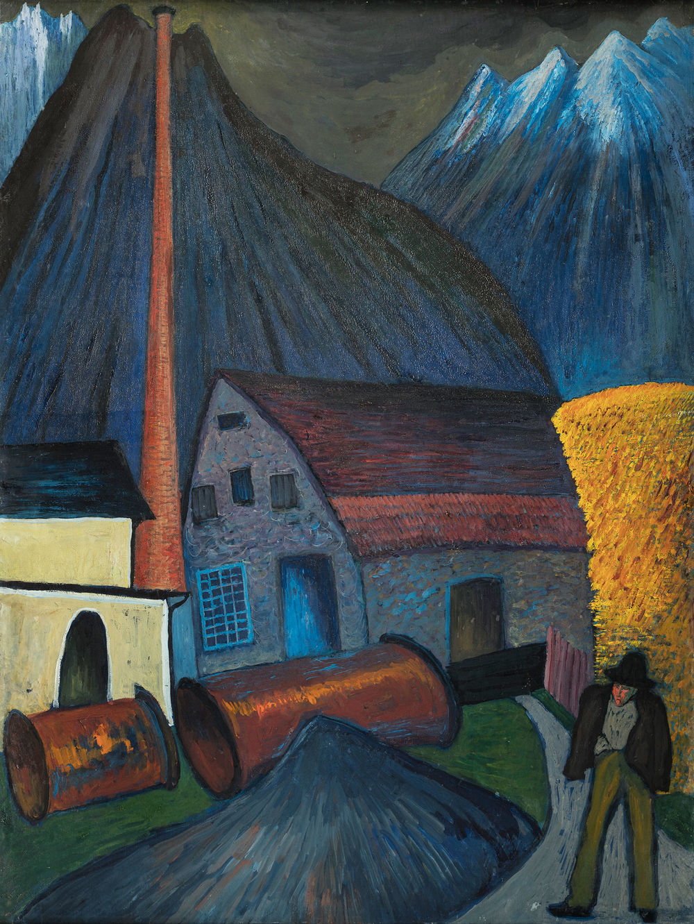 Marianne von Werefkin, shingle factory, 1910, Museum Wiesbaden. Photo: Museum Wiesbaden / Bernd Fickert