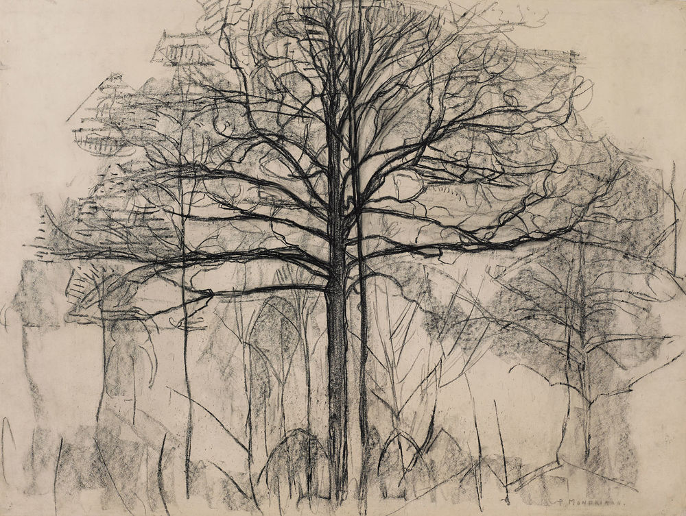 Study for Trees (for Painting No. 2), 1912